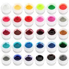 dancingnail 30 colors pure jelly color nail art uv gel builder