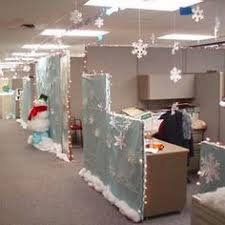 snowman crime scene for cubicle decorating contest complete with