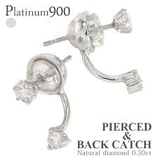 diamond back earrings auc eternal rakuten global market diamond earrings 0 20 ct