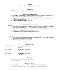 resumes with objectives objective statement examples for resume