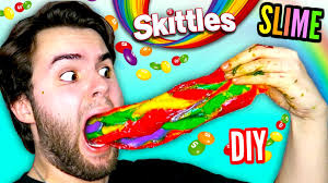 where can i get an edible image made diy skittles slime edible rainbow slime made from actual