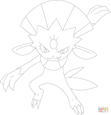 weavile coloring page free printable coloring pages