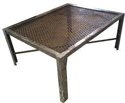 furniture industrial style coffee table ideas silver square