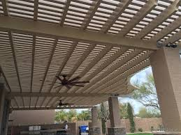 pictures of patio covers custom alumawood patio cover with outdoor fans in gilbert az