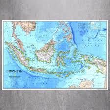 aliexpress com buy indonesia map quote canvas art print poster aliexpress com buy indonesia map quote canvas art print poster wall pictures for bed room decoration home decor silk fabric no frame from reliable wall