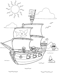 pirate found a buried treasure map coloring sheet pages