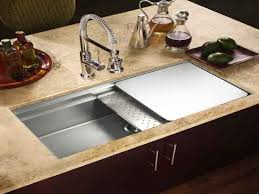 Kitchen Sink Cabinets Kitchen Sink With Sliding Cutting Board Home Decorating