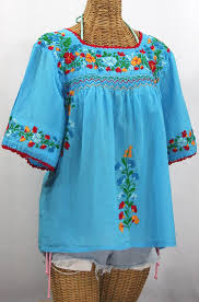 peasant blouse la marina embroidered peasant blouse aqua