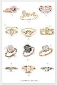 unique gold engagement rings unique engagementring ideas 2017