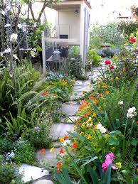 backyard gardens and flower garden designs organic pictures on