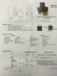 ead25 timed electric auto drain with cord tank drain valve air
