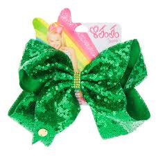 jojo siwa large green sequin hair bow s ca