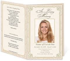 Free Funeral Programs Free Funeral Program Templates Design Template Creators For