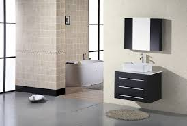 bathroom single sink vanity with storage also wall mirror and