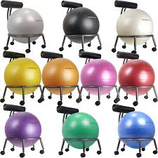 Yoga Ball As Desk Chair Isokinetics Fitness Ball Chair Silver Flake Frame Office Size