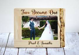 personalized wedding photo frame personalized wedding frame wedding gift rustic frame two became