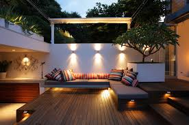 modern backyard design ideas bring out mini theaters with