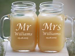 personalized mugs for wedding personalized wedding gift mr and mrs jar mugs rustic