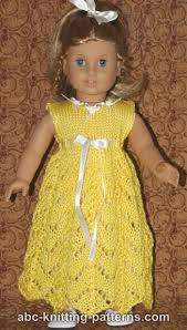 abc knitting patterns american doll empire waist lace dress