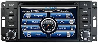 jeep grand bluetooth amazon com 2007 2017 jeep wrangler in dash gps navigation dvd cd