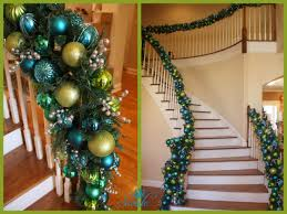 Banister Garland Ideas Holiday Decor The Staircase Swede