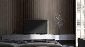 parement bois mural parement bois peinture grise design de maison