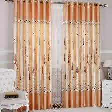Burnt Orange Curtains Sale Orange Floral And Geometrical Solid Curtains For Blackout Function
