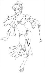 dancing genie lineart by lomelindi88 deviantart com on deviantart