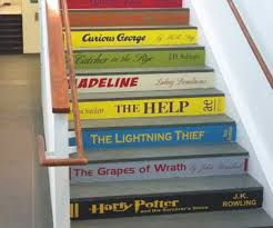 book stair decals