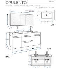 54 Bathroom Vanity Double Sink 54 U201d Fresca Opulento Fvn8013wh White Modern Double Sink Bathroom