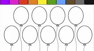 balloon coloring pages printable air balloon coloring pages for kids balloons