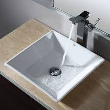 home decor square vessel bathroom sink cabinet door with glass