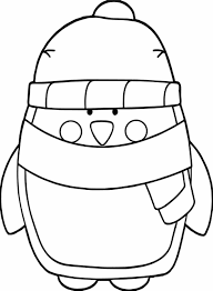 winter penguin coloring pages newcoloring123