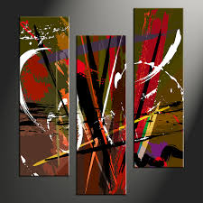 3 piece colorful home decor abstract huge pictures