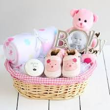 baby baskets deluxe girl new baby gift basket by snuggle