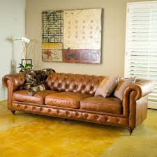 Chesterfield Tufted Leather Sofa by Chesterfield Tufted Leather Sofa Leather Sectional Sofa
