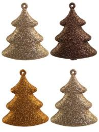 chocolate copper u0026 gold 3d tree hanging decoration 4 x 70mm