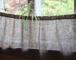 Natural Linen Curtain Fabric Linen Cafe Curtains Etsy