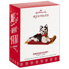 puppy siberian husky ornament keepsake ornaments hallmark