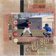 sports photo albums 303 best sports scrapbooking images on baseball