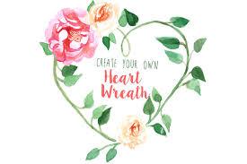 heart wreath create your own heart wreath illustrations creative market