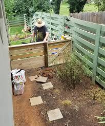 basket weave fence sweet sorghum living
