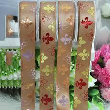 printed ribbons china printed ribbons foil printed colorful flower printed satin