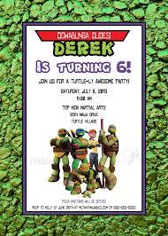 14 best ninja turtle invitations images on pinterest ninja