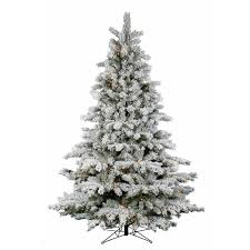 flocked artificial tree for decoration