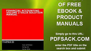 financial accounting volume 3 valix solution manual video