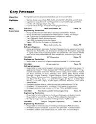 Support Technician Resume Technician Resume Objective Resume For Your Job Application
