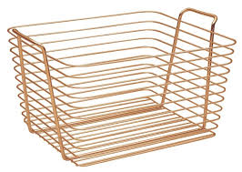 Bathroom Basket Storage Amazon Com Interdesign Classico Wire Storage Organizer Basket For