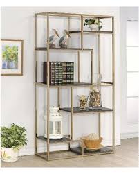 Gold Bookcase Black Friday Sales On Nara Contemporary 6 Shelf Tiered Open