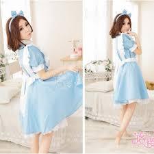 halloween women anime alice in wonderland blue party dress